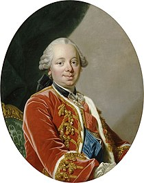 Portrait painting of Étienne François de Choiseul (1719-1785) Duke of Choiseul by Louis Michel van Loo (Versailles).jpg
