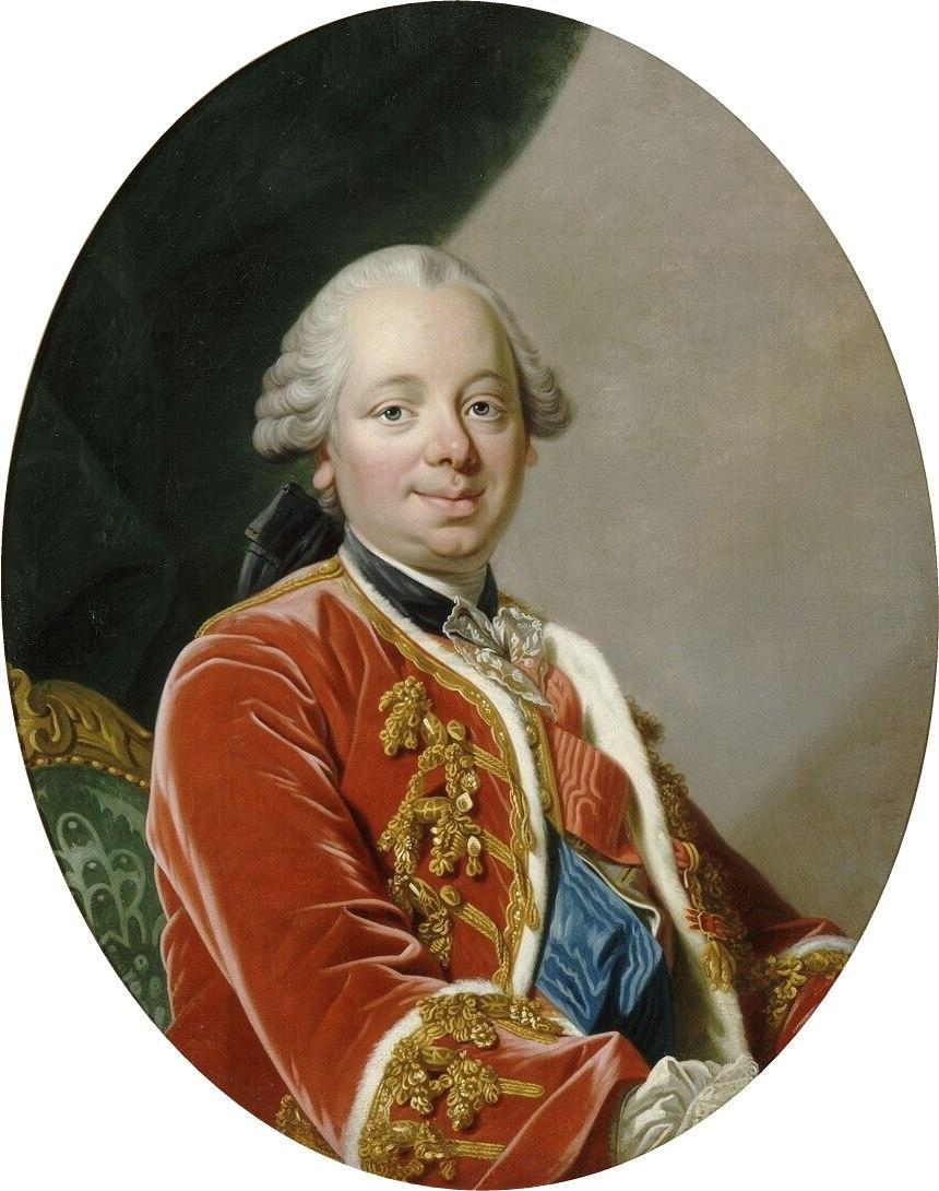 Portrait painting of Étienne François de Choiseul (1719-1785) Duke of Choiseul by Louis Michel van Loo (Versailles)