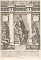 Portret van Clovis I, koning der Franken Portretten van leden van het Oostenrijkse Huis (serietitel) Austriacae gentis imaginum (serietitel), RP-P-1961-839.jpg