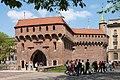 Pozostałości murów obronnych Krakowa- Barbakan; A-8; PL-MA, Kraków, Planty; 03.jpg