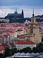 Pražský hrad a hotel International, z Baby.jpg