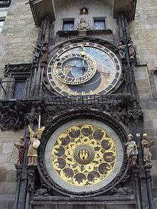 L'orologio astronomico di Praga, costruito a partire dal 1410