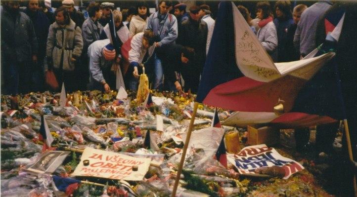 Prague November89 - Wenceslas Square1