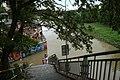 Praha, Libeň, schodiště a rozvodněná Vltava.jpg