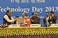 Pranab Mukherjee and the Union Minister for Science & Technology and Earth Sciences, Shri S. Jaipal Reddy launching the product Blood Chemistry Analyser & Compact Portable Mobile Lab developed by Shri Amit Bhatnagar.jpg