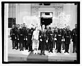 Pres. & Mrs. Coolidge with military naval attaches, 1-1-27 LCCN2016842978.jpg