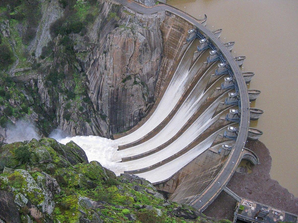 Vista desde el mirador de la central de Aldeadávila I.