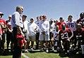 President George W. Bush talks with members of the Tampa Bay Buccaneers.jpg