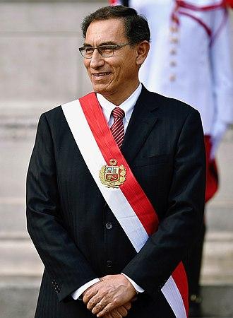 Pedro Pablo Kuczynski - Martín Vizcarra shortly after taking office