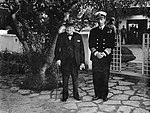 President Roosevelt and Prime Minister Churchill at the Allied Conference in Casablanca, January 1943 A14107.jpg