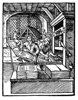 Printer in 1568-ce