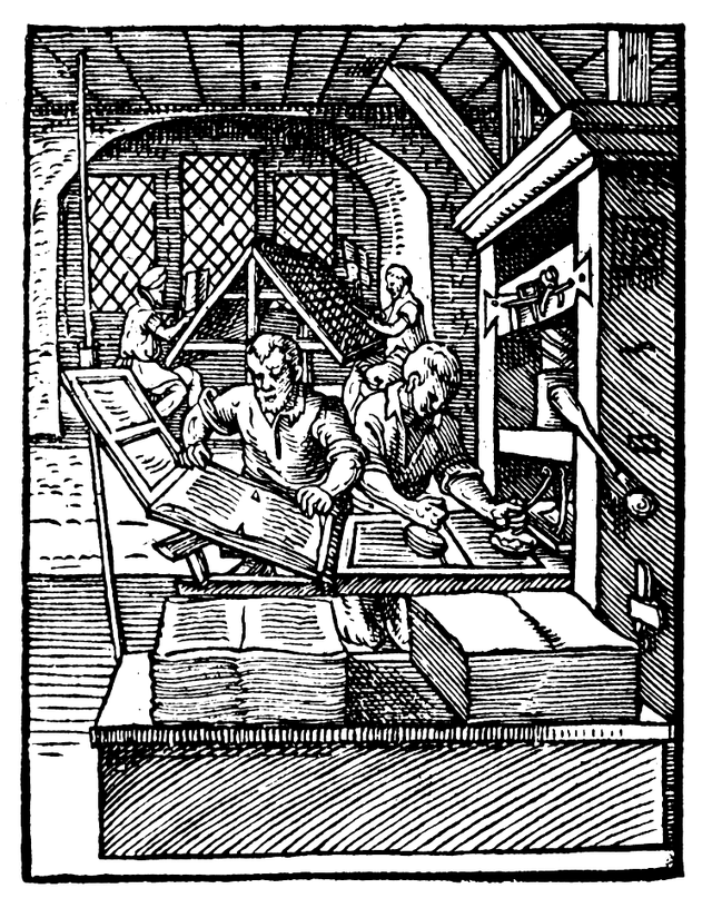 Printing shop in 1568