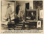 Professor Hugo Vogel in seinem Berliner Atelier mit mehreren seiner neuesten Hindenburgbildnisse, 1915.jpg