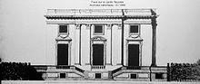Projet non réalisé des façades sur le Jardin botanique et sur le Jardin fleuriste Ange-Jacques Gabriel, 1761.
