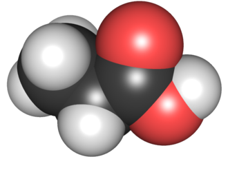 Propionic acid - Image: Propionic acid spheres