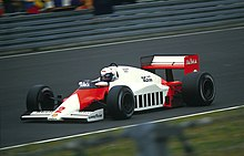 Photo d'Alain Prost au Grand Prix d'Allemagne 1985.