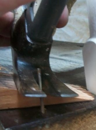 Hammer - The claw of a carpenter's hammer is frequently used to remove nails.