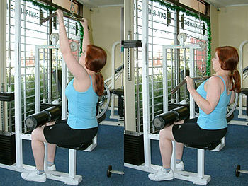 Pulldown exercise to the front