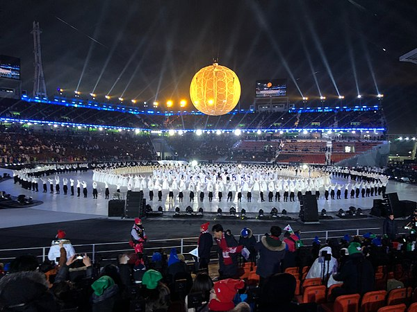 Pyeongchang Olympic Stadium at day for 2018 Winter Paralympics opening ceremony - 6.jpg