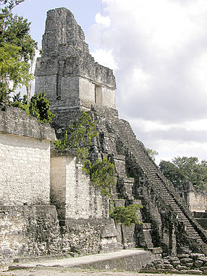 Tikal Temple I - Temple I, seen from the northwest