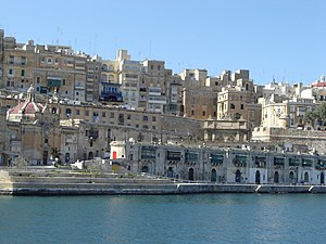 Valletta's skyline, as seen from Sliema