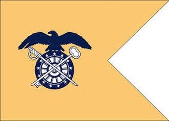 Guidon (United States) - Image: Quartermaster Guidon