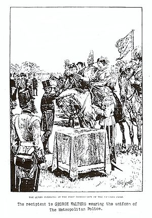 George Walters (VC) - Queen Victoria awarding George Walters the VC