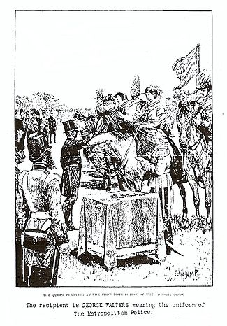 Queen Victoria awarding George Walters the VC