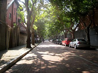 Huangpu District, Shanghai - A quiet leafy street in the former Shanghai French Concession, part of which eventually became Luwan district