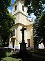 Römisch-katholische Kirche und Kruzifix (1912), 2021 Csongrád.jpg