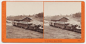 Los Angeles and Independence Railroad - Image: R.R. Station, Santa Monica. 4755