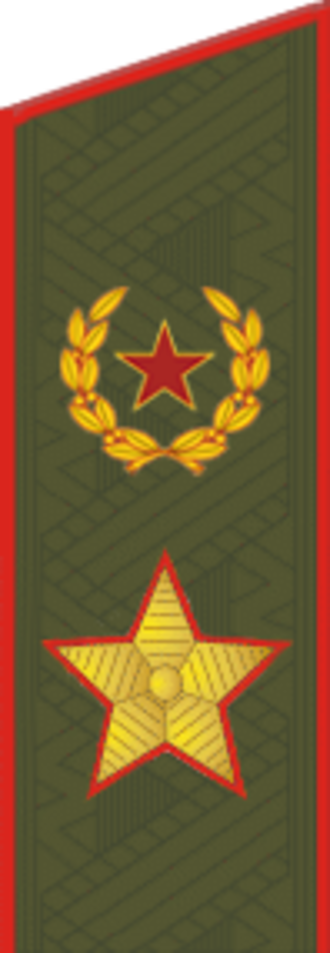 Four-star rank - Army general (Russian Army since 2013)