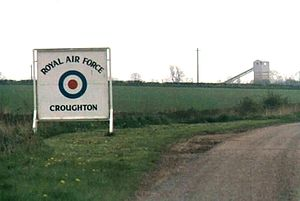 RAF Croughton - RAF Croughton Front Gate Sign, 1977.