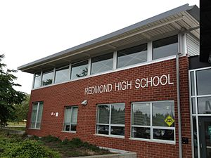 Redmond High School (Washington) - Front of RHS Main Building