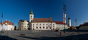 Sibiu - Large Square, general view towards North