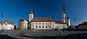 Sibiu - Large Square, general view towards North