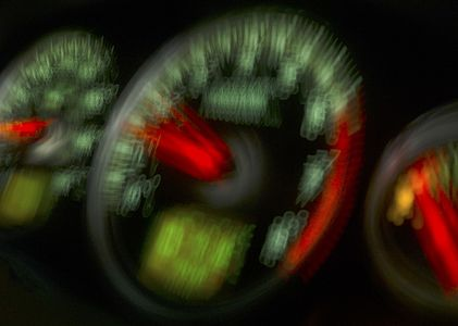RPM gauge abstract
