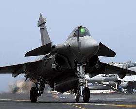 فضيحة صفقة الطائرات الفرنسية رافال 280px-Rafale_070412-N-8157C-542.JPEG