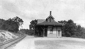 Brookline, New Hampshire - Boston & Maine Railroad Station in 1907