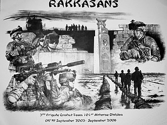 187th Infantry Regiment (United States) - Rakkasan Print OIF IV