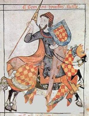 Ramón de Bonifaz - Medieval illustration of Ramón de Bonifaz.