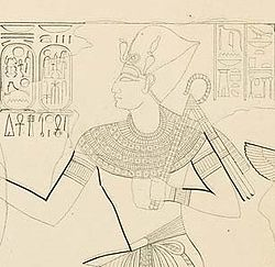 Detail of Ramesses X a sketch of KV18 by Karl Richard Lepsius