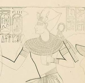 Ramesses X - Detail of Ramesses X   a sketch of KV18 by Karl Richard Lepsius