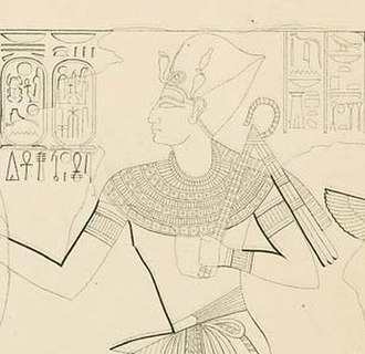 Ramesses X - Detail of Ramesses X   a sketch of KV18 by Karl Richard Lepsius