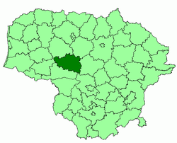 Location of Raseiniai district municipality within Lithuania