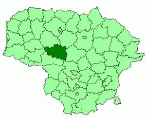 Raseiniai District Municipality - Image: Raseiniai district location