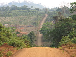 Road in Ratanakiri, Cambodia