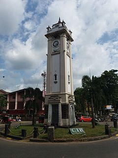 Ratnapura town in Sabaragamuwa, Sri Lanka