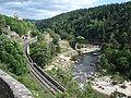 Rauret - à Joncherette- Allier, chemin de fer, château de Jonchères.JPG