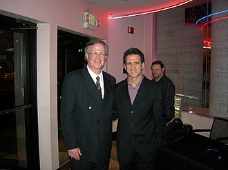 Eric Marienthal - Marienthal (right) with Ray Reach, Director of Student Jazz Programs for the Alabama Jazz Hall of Fame